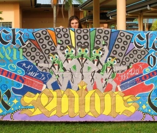Senior Year Homecoming Banner By Brenttonbadart Senior Year Homecoming Banner By Brenttonbadart