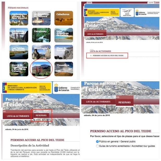 Pedir Permiso Pico Teide