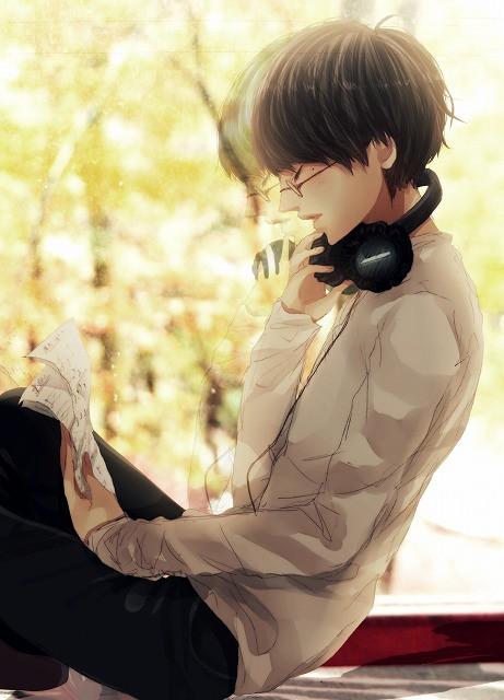 20 Sad Anime Girl Listening To Music Wallpaper