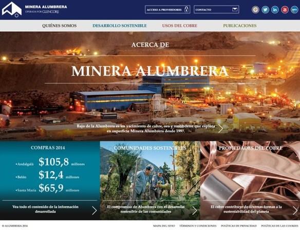 Nuevo Sitio Web Minera Alumbrera