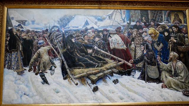 P1020391 Russie, Moscou, Galerie Tretiakov, La Boyarina Morozova par Vassili Sourikov, 1887