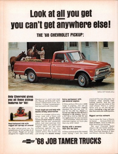 1960 chevrolet cars » 1968 Chevrolet CST Fleetside Pickup Truck Advertisement Li      Flickr     1968 Chevrolet CST Fleetside Pickup Truck Advertisement Life Magazine  October 13 1967   by SenseiAlan