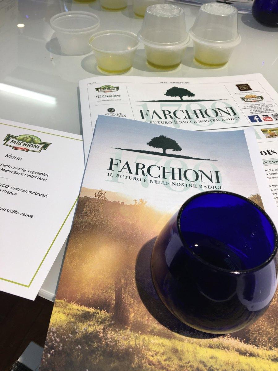 Event: Olio Farchioni – Olive Oil Tasting
