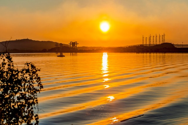 Reflection on Angara river