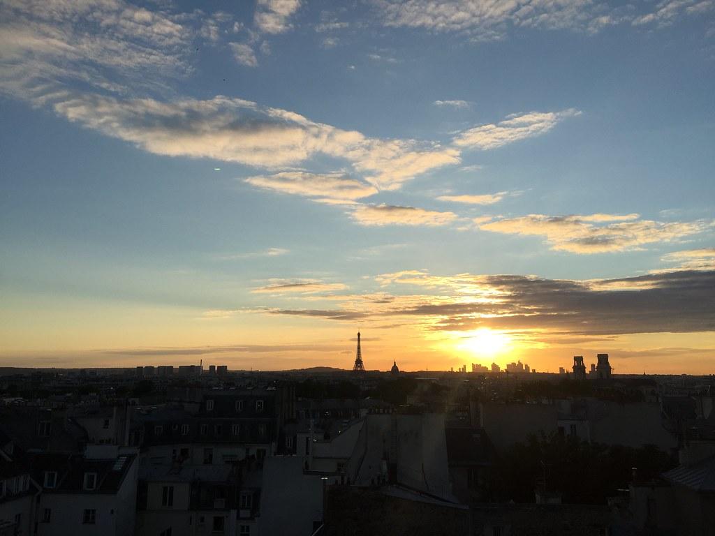 Paris 2016 sunset eiffel tower