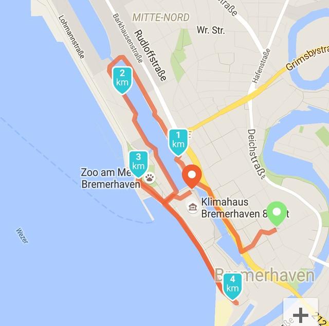 City jogging Bremerhaven