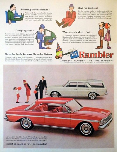 1963 rambler cars » Vintage Automobile Advertising  1964 Rambler   Insist on M      Flickr     Vintage Automobile Advertising  1964 Rambler   Insist on More in  64    Go