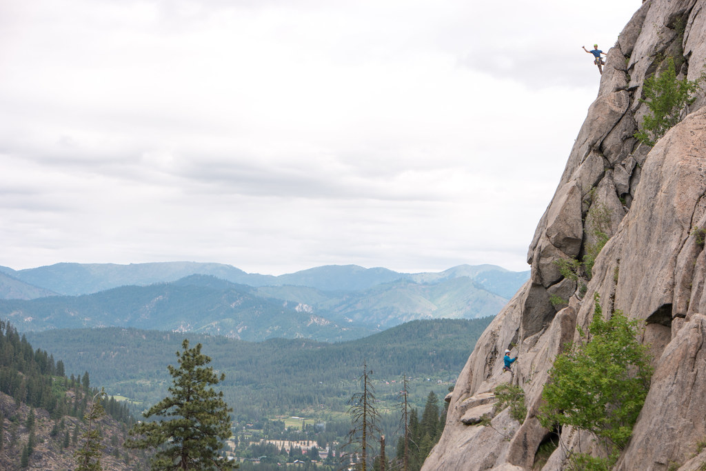 Climbing in Leavenworth