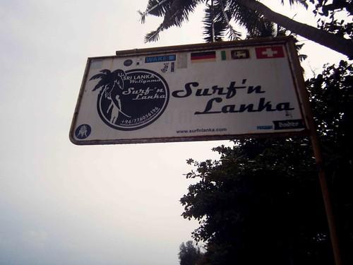 Surf'n Lanka Sign