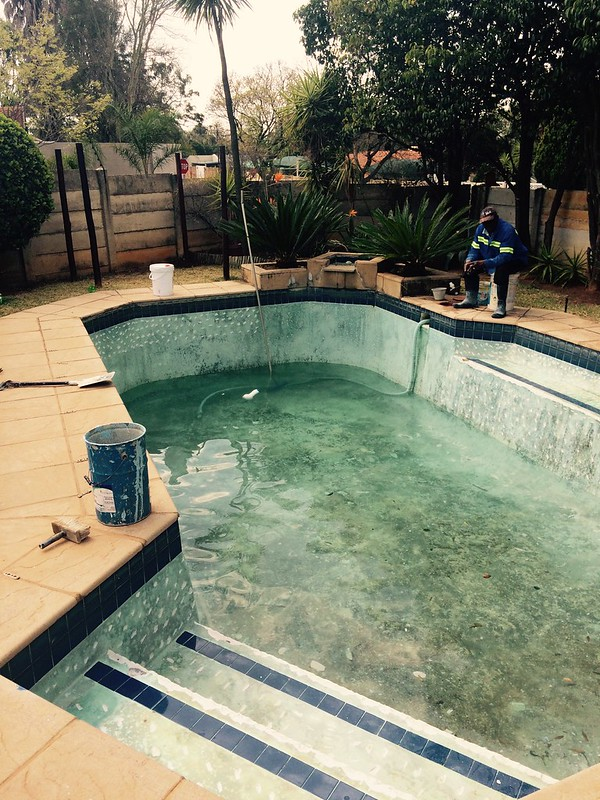 Pool surface before
