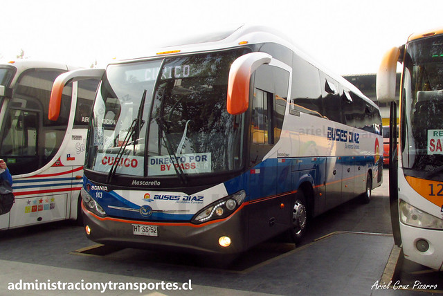 Buses Díaz | Santiago | Mascarello Roma 350 - Scania / HTSS52 (143)