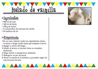 Receta helado fácil de vainilla sin huevo (heladera)