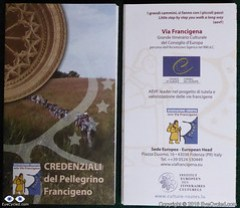 Via Francigena Pilgrim's Credentials