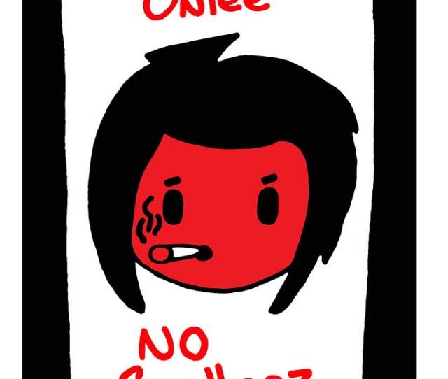 B Pop Bad Girl Smokes College Music Dorm Room Poster Cartoon B Pop Nasty
