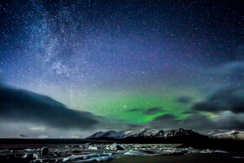 Mystical Northern Lights over Iceland