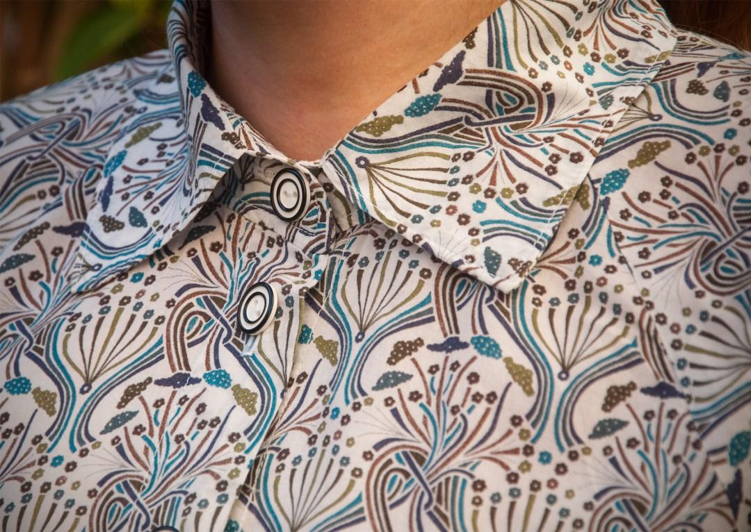 Liberty pegalia blouse. Burdastyle pattern