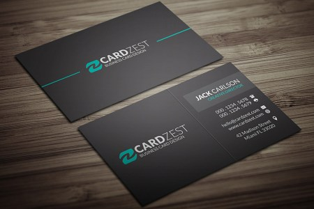 Modern Minimal All Black Business Card Template   Download           Flickr     Modern Minimal All Black Business Card Template   by Meng Loong