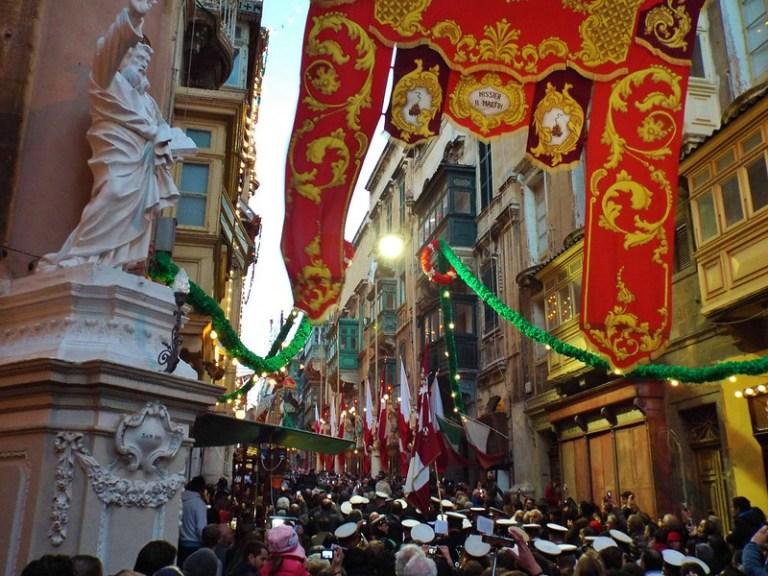 The Feast of St Paul Shipwrecked in Valletta, Malta - the tea break project solo female travel blog