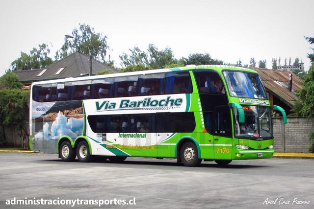 Vía Bariloche | Osorno | Marcopolo Paradiso 1800 DD - Mercedes Benz / KFE281 - 7170