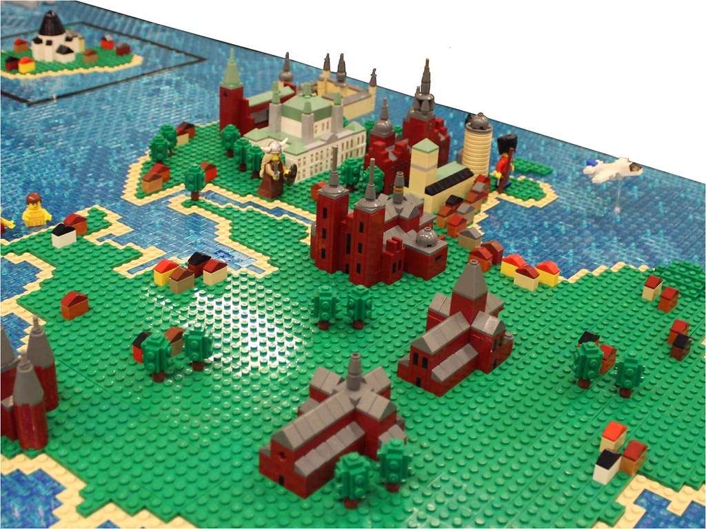 LEGO Map of Denmark   Sj    lland  English  Zealand  is the lar      Flickr     LEGO Map of Denmark   by Lasse Vesterg    rd