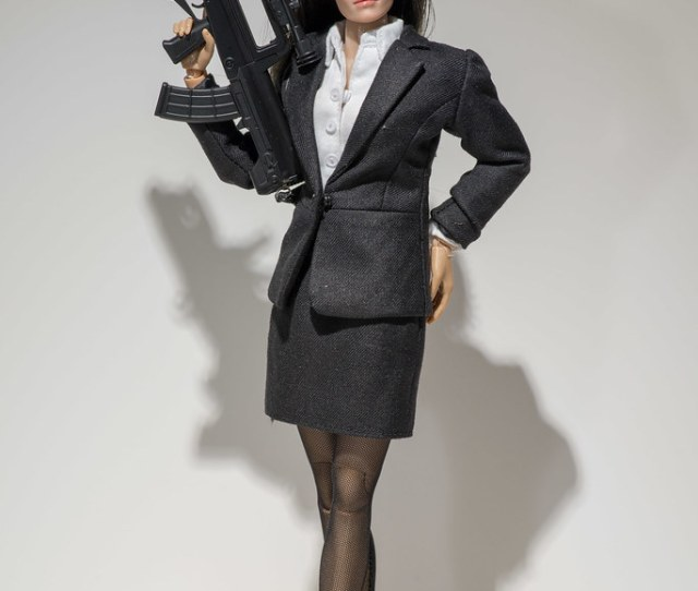Play Toys Female Agent In Zy Toys Suit With Dam Toys Rifle By Edwicks_toybox