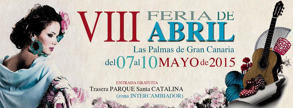 01 Cartel de la VIII Feria de Abril Las Palmas de Gran Canaria
