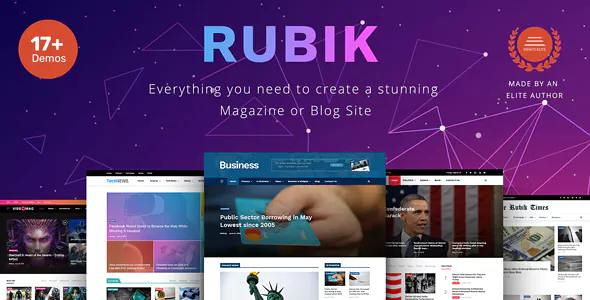 RUBIK V1.5 – A PERFECT THEME FOR BLOG MAGAZINE WEBSITE