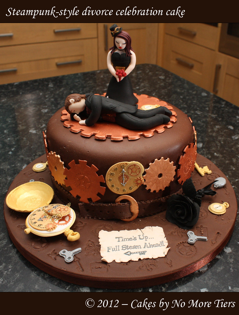 Steampunk Style Divorce Cake My Most Unusual Commission