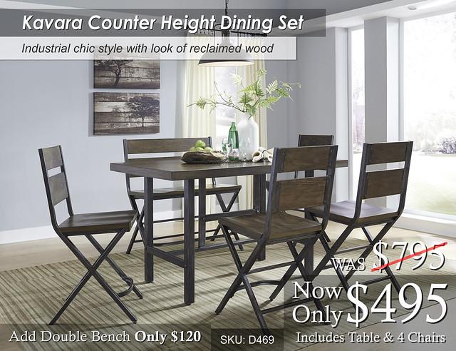Kavara Counter Height Dining Set D469