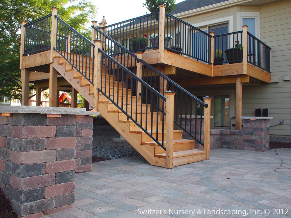Deck & Patio ~ MN Backyard Ideas | Custom Designed ... on Patio With Deck Ideas id=88915