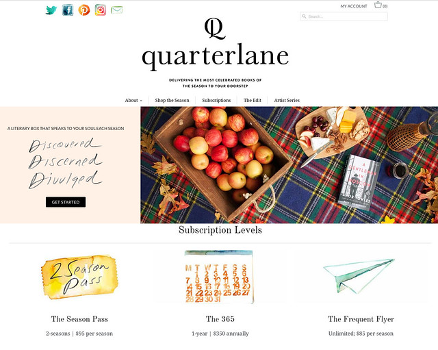 Quarterlane Homepage short