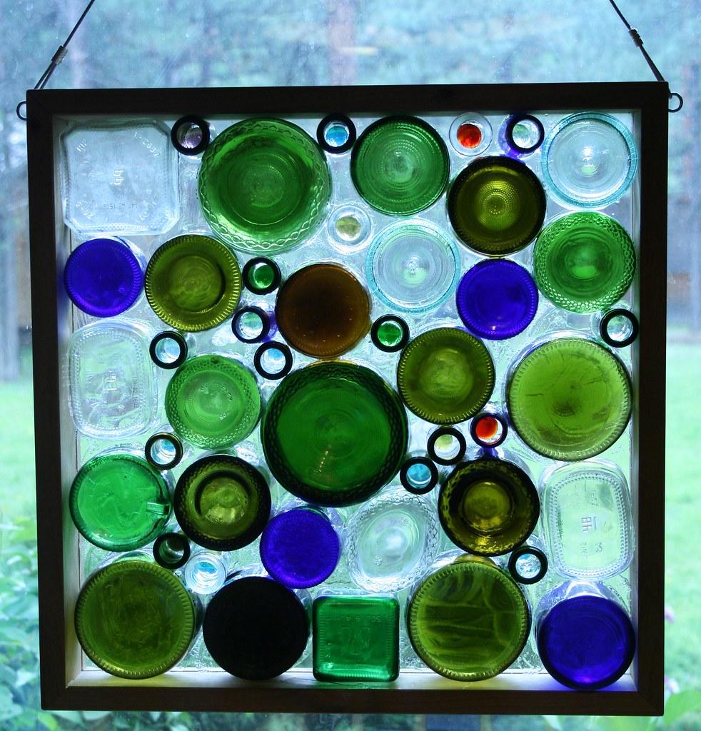 Glass Bottle Window 2 First Of Several Glass Bottle