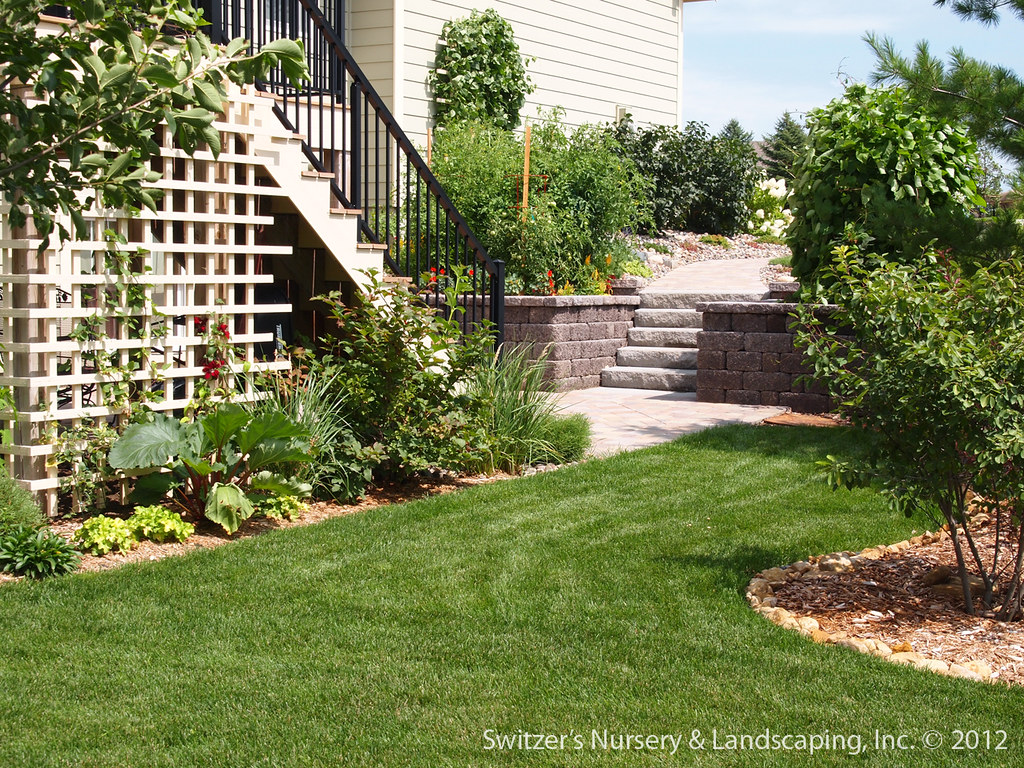 Paver Patio under Deck with Retaining Wall & Steps - Minne ... on Under Deck Patio Ideas id=66018