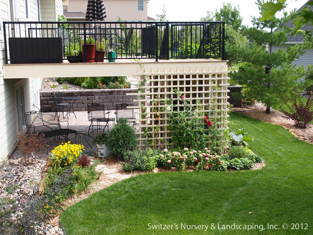 Paver Patio Under Deck with Retaining Wall & Steps   Flickr on Under Deck Patio Ideas id=37622