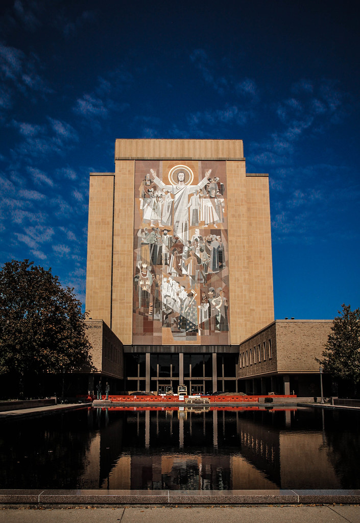 Hesburgh Library Touchdown Jesus Word Of Life Mural Flickr
