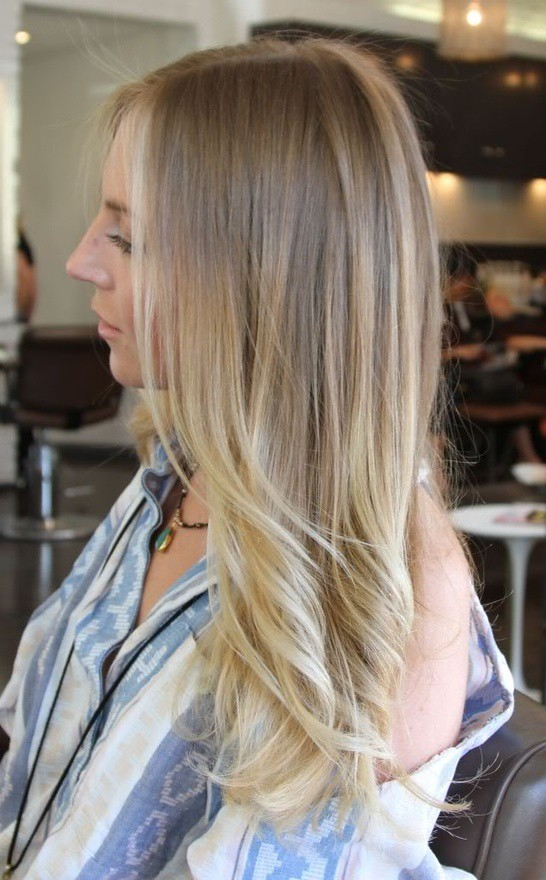 Long Ombre Blond Hair Long Hair Style Design Dirty