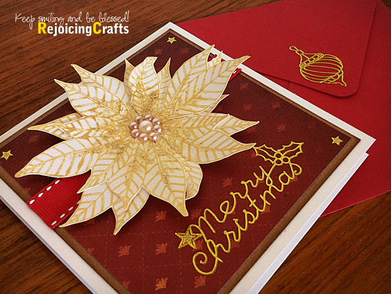 Handmade Christmas Card With Gold Glitter Poinsettia Flickr