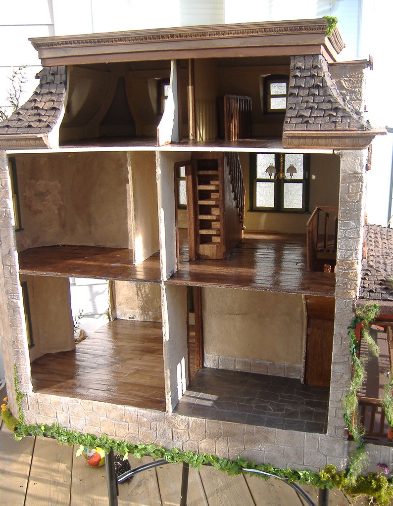 The Lily Victorian Dollhouse Lily Dollhouse Kit Built By