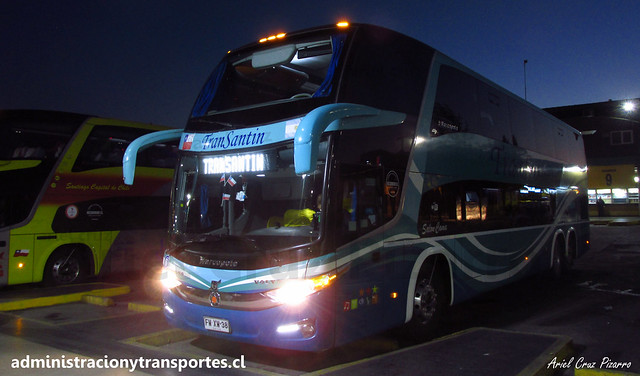 Transantin   Santiago (Terminal Sur)   Marcopolo Paradiso 1800 DD G7 - Volvo / FWXW38