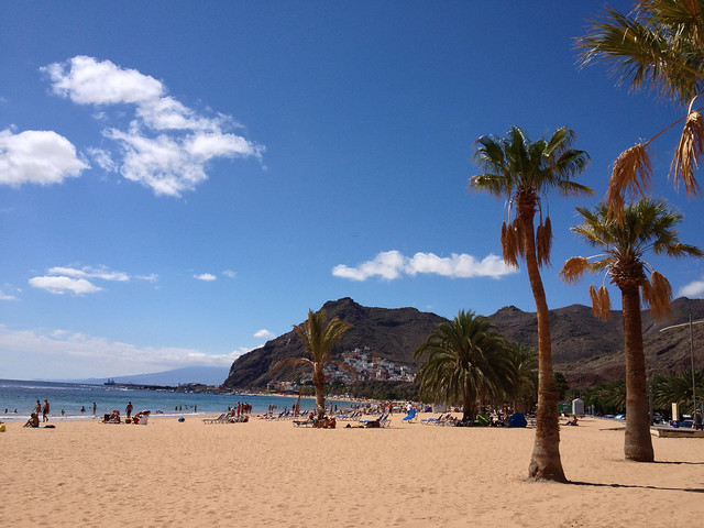 Relax on one of Tenerife's beautiful beaches