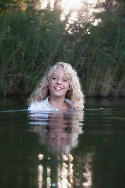 Jeans And Blouse Wet In The Lake Find The Full Set Here