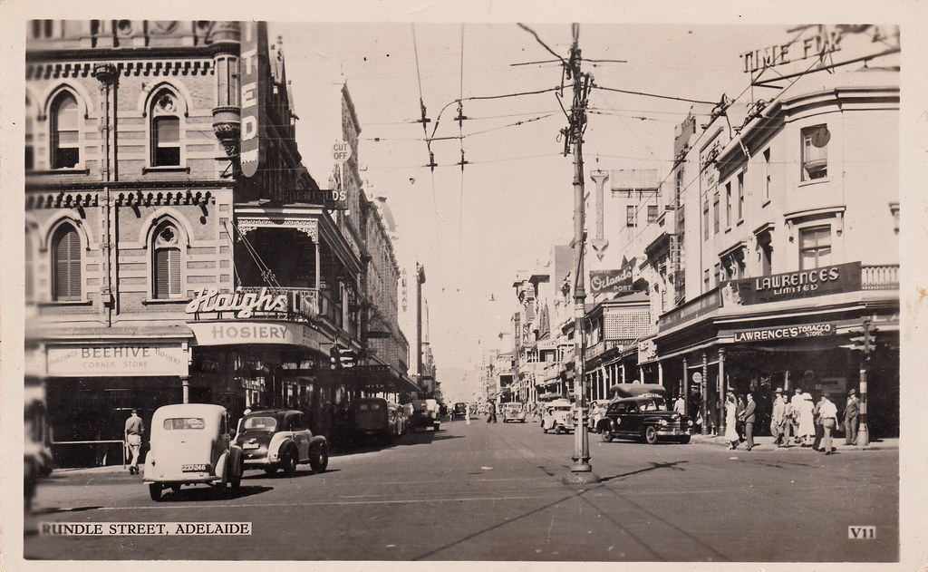 V11 Rundle Street Adelaide 1940s Real Photo Postcard