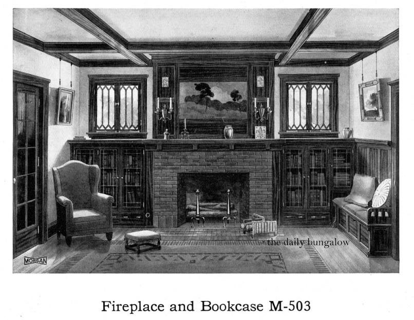 Bungalow Living Room 1920 S Livingroom With Brick Firepla Flickr