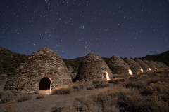 Charcoal Kilns at Night