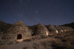 Charcoal Kilns at Night