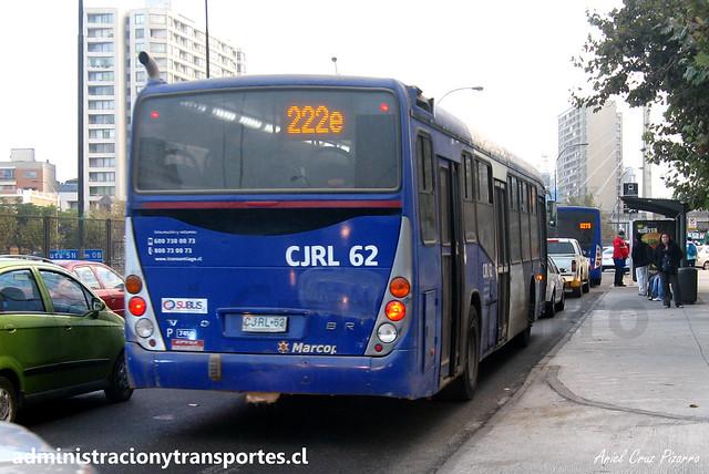 Transantiago 222e | Subus | Marcopolo Gran Viale - Volvo / CJRL62 - 7450