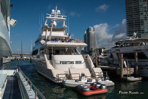 FIGHTING IRISH Motor Yacht Dock In Miami Harbor Motor