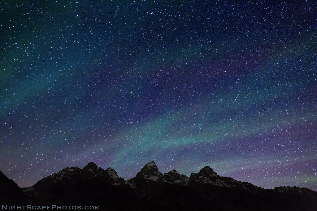 Northern Star Lights Over Grand Tetons Starry Night Sky
