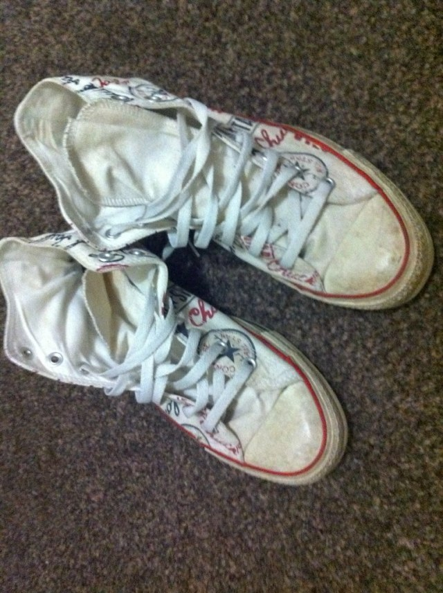 Trashed Converse 2 By Ben Skate Shoes