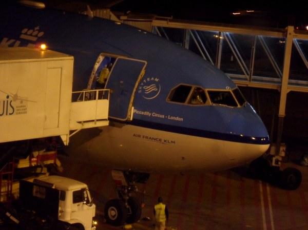KLM flight KL537 at Entebbe International Airport, Uganda ...